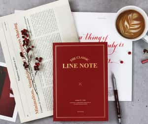 beautiful, notebook, and red image
