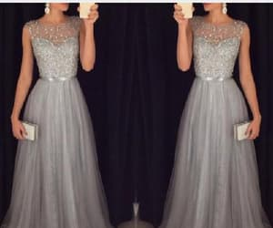 long prom dress, a-line evening dress, and custom prom dress image