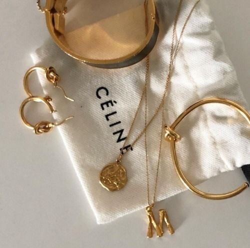accessories, celine, and gold image