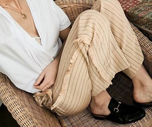 chic, fashion, and loafers image