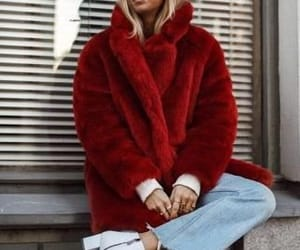 fur coat, outfit, and fashion image