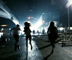 run, night, and grunge image