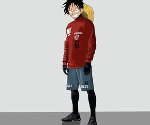 one piece, luffy, and trap anime image