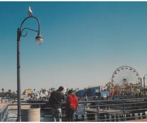 blue, california, and pier image