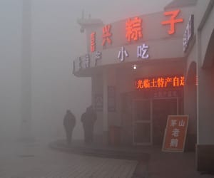 aesthetic, foggy, and neon image