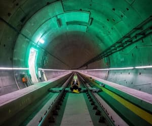 green, photography, and tunnel image