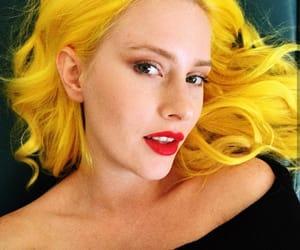 amarelo, yellow, and yellow hair image