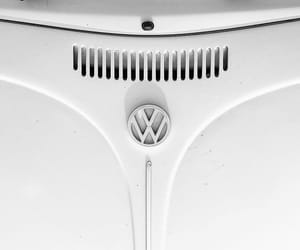 beetle, white, and cars image