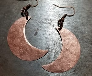 copper, etsy, and moon earrings image