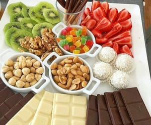 chocolate, fruit, and food image