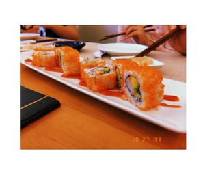 spicy, sushi, and californiaroll image