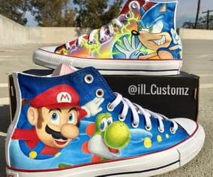 chuck taylor, sonic, and super mario image