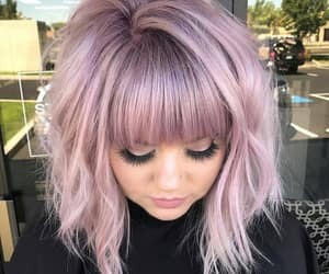 cheveux, court, and purple image
