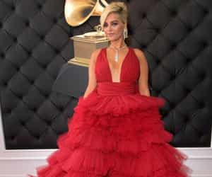 red carpet and bebe rexha image
