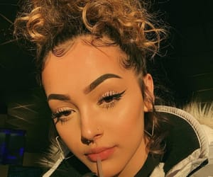 blond hair, edges, and eyebrows image