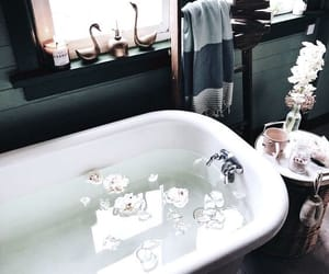 bath, decore, and black image