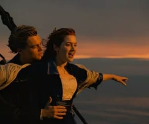 titanic, leonardo dicaprio, and rose image