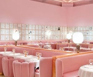 lounge, pink, and 50's diner image