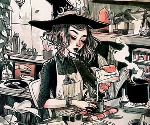 witch, art, and illustration image