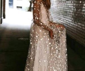 dress, stars, and white image
