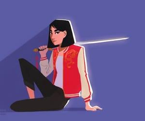 disney, guerrera, and espada image