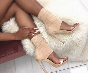 fashion, nails, and shoes image