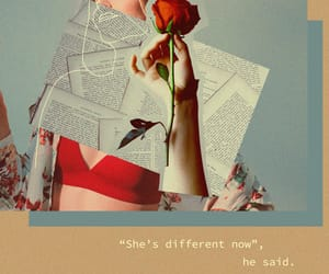 Collage, rose, and different image