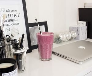 apple, smoothie, and fruit image