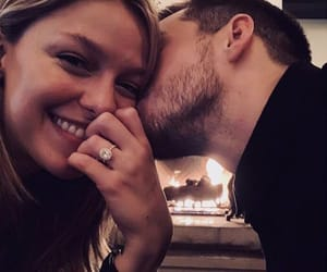 melissa benoist, chris wood, and love image