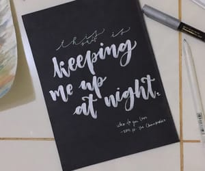 art, hand lettering, and insomnia image