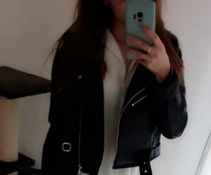 biology, girl, and leather image