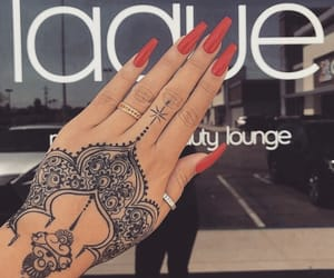 nail art, nail goals, and red nails image
