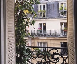 architecture, paris, and balcony image