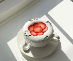 coffee, drink, and strawberry image
