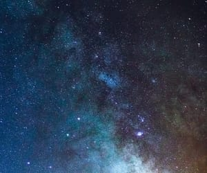 earth, galaxy, and lights image