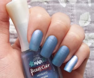 blue, nail polish, and a garota esmaltada image