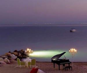beach, piano, and romantic image
