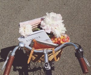 flowers, bike, and vintage image