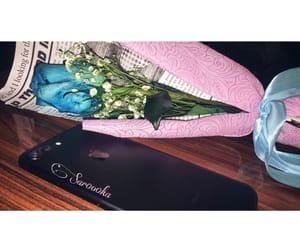 black, blue, and rose image