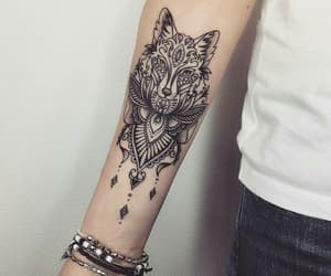 tattoo, wolf, and animal image