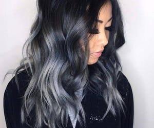 black, gray, and makeup image