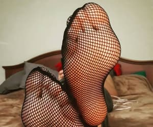 fashion, fishnets, and foot image