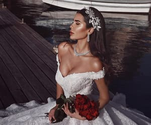 flowers, dress, and gown image