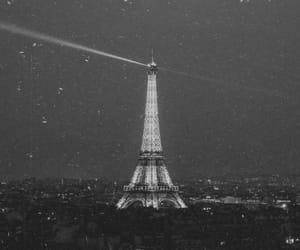 black and white, paris, and tourist image