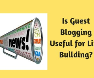 guest blogging and link building image
