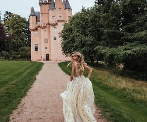 castle, dress, and princess image