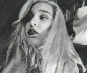 alternative, black and white, and blonde image