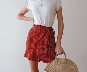 gingham, red, and skirt image