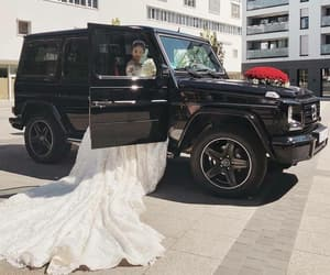 mercedes, wedding, and bride image