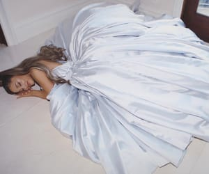 ariana grande, dress, and blue image